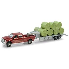 Coleccionable Pickup Dodge Con Un Ertl Diecast Trailer Y Ba