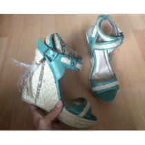 Zapatos Tacones Plataformas Bke Sole Mayan Piel Plumas!!