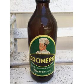 Antigua Botella De Aceite Cocinero (llena)