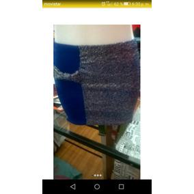 Mini Lurex Azul.talle Único.articulo Nuevo