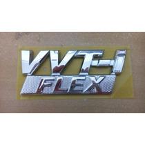 Emblema Vvti Flex Paralama Corolla