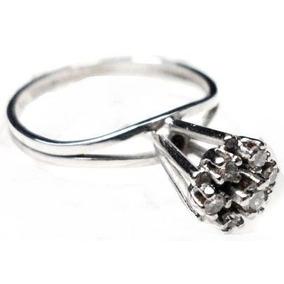 Mna-anel Chuveiro Ouro Branco 18k 7 Brilhantes