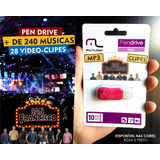 Pendrive San Francisco 240 Musicas 28 Vídeo Clipes+2 Brindes