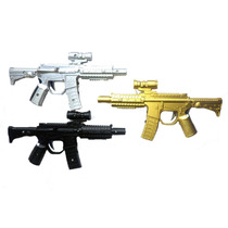 3 Pistolas De Toques Metralletas Con Laser Y Luz Led