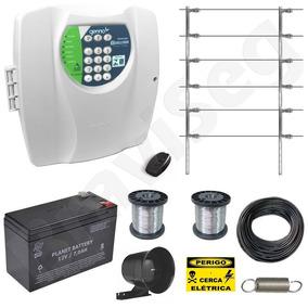 Kit Cerca Elétrica 6 Isolador + Discador - 90 Metros