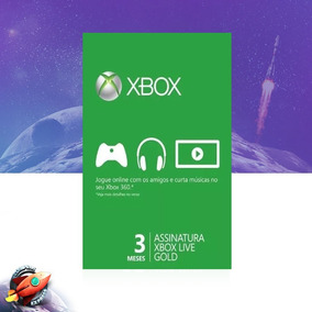 Xbox Live Gold Brasil Br Cartão De 3 Meses Digital