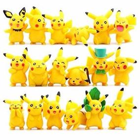 Pokemon Pikachu Juego De 18 Figuras Original Niño Juguete