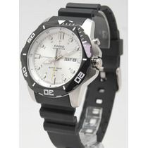 Reloj Casio Estandar Mtd1080 Iluminator C Caucho Wr100m