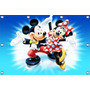 Mickey E Minnie - 1,50 X 1,02m Painel Infantil Decorativo