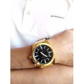 Relógio Dourado Masculino Atlantis Original Caixa + Vendido