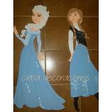 Figuras Frozen En Goma Eva. 35cm $100