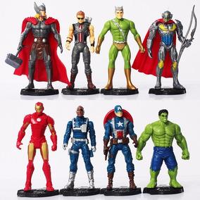 Kit 8 Bonecos Os Vingadores Marvel Brinquedos Baratos