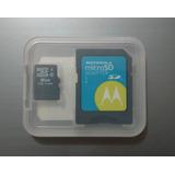 Cartão E Adaptador Microsd Micro Sd Original Motorola Hc 8gb