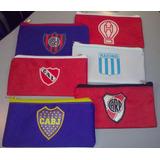 Cartuchera En Tela Con Escudo Club Boca!
