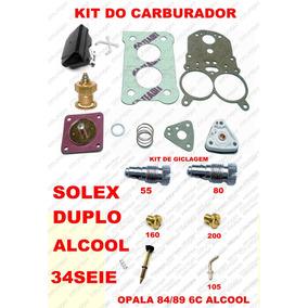 Kit Carburador Opala 6c 84/89 Solex Duplo 34seie Alcool