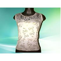 Bellas Blusas Damas Tipo Camiseta En Tela Peruana