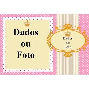 40 Lembracinha Rosa Menina Infantil 14x9,5cm Pap. Foto 260gr