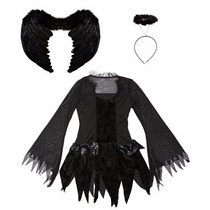 Disfraz Halloween Angel Cospaly For Girls Black Fallen Angel