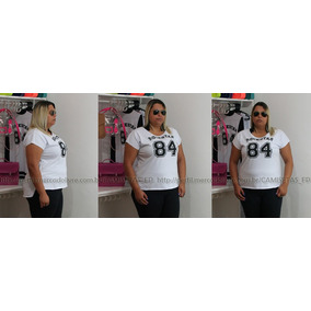 Plus Size Camiseta T-shirt Blusa Swag Estampa De Numero Top