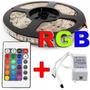 Kit 15 Metros Fita Led 5050 Rgb+1 Fonte 15a +2 Amplificador