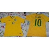 Blusa Oficial Seleção Brasileira Tamanho G - Nome Daniel