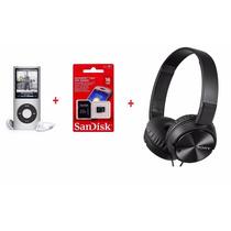 Mp4 Player 16gb +radio Fm +fone Sony Mdr-zx310 + Mem. 32gb