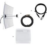 Kit Internet Rural Alto Ganho Roteador 3/4g, Antena E Cabos
