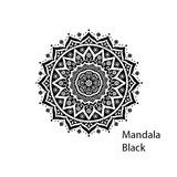 Toalla Redonda De Playa Mandala Black / Devitrina