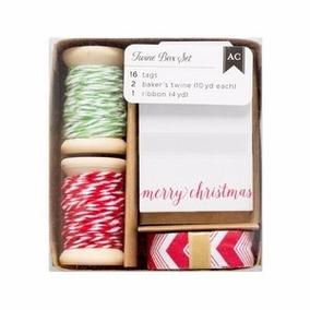 Scrapbook Etiquetas Navidad Regalo Envoltura Hilo Twain Deco