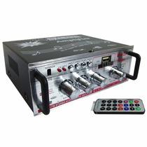 Amplificador 12v-220v Radio Fm Usb/sd/aux Con Control