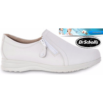 Zapato Piel Enfermera Flat Loafer Confort Tipo Flexi Medico