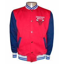 Blusa Moletom Chicago Bulls Vermelho E Azul Colegial