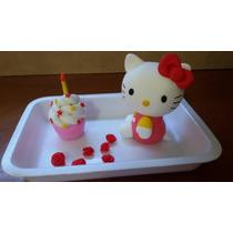 Hello Kitty - Adorno Para Torta En Porcelana Fria