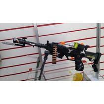 Arma De Brinquedo Com Som E Luzes (56cm)