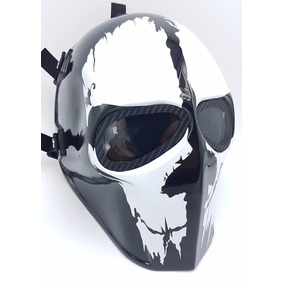 Mascara Invader King Flat White Airsoft Mask Army Of Two