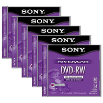 5 Mini Discos Dvd-rw Sony Handycam Re-grabable Video Camaras