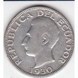 Ecuador, Antigua Moneda De Plata 0,720 1.930. Rara