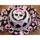 Monster High - Mini Torta + 24 Minicupcakes