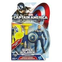 Muñeco Capitan America Lanza Dardo De Succión