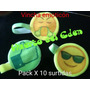 Vincha Emoticon Estampado Cotillon Pack X 10