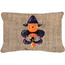 Calabaza De Halloween Del Palo De La Flor De Lis Decorativa