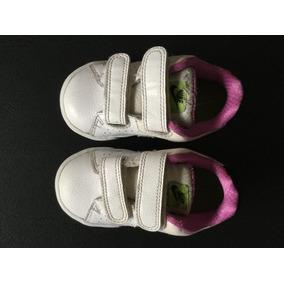 Súper Sale! Zapatillas Cuero Con Abrojos. Nena. Talle 22