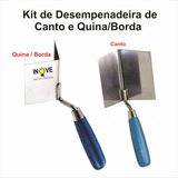 Kit Desempenadeira Canto/quina, Gesso, Drywall E Steel Frame