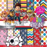Kit Imprimible Pack Fondos Paw Patrol Clipart 10