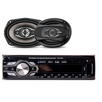 Combo Stereo Y 2 Parlantes 6x9 Bluetooth Usb Desmontable