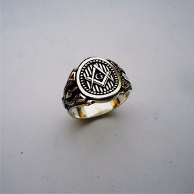 Anillo Mason Masonico Plata Sterling .950 Modelo Exclusivo