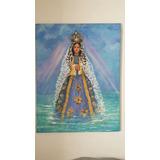 Virgen Del Valle Cuadro Acrilico Lienzo 80 X 1.00cm