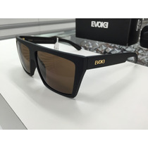 Oculos Solar Evoke Evk 15 Preto Fosco Com Lente Marron Origi