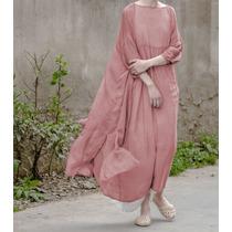 Vestido Importado De Seda Natural