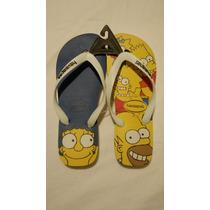 Ojotas Havaianas Simpson Originales Colleción 2017